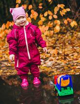 Комбинезон непромокаемый утепленный детский (вишневый)