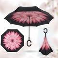 """Зонт наоборот """"Красный цветок"""""""