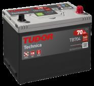 Автомобильный аккумулятор Tudor Technica TB704 (70 А/ч), 540A R+