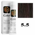 Крем-краска для волос iColori ТОН - 5.5 светло-каштановый красное дерево, 90мл (KayPro)