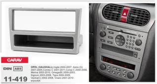 CARAV 11-419 - Opel Astra, Vectra, Omega, Corsa (c карманом / Silver) 1-DIN