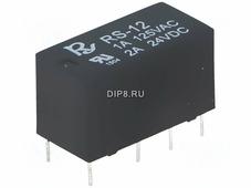 RS-12, Реле:электромагнитное, DPDT, Uобмотки:12ВD