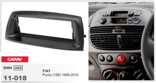 Переходная рамка для установки магнитолы CARAV 11-018 - Fiat Punto 1999-2004