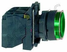 Лампы, кнопки, звонки, переключатели Schneider Electric Кнопка зелёная с подсветкой 24В AC/DС (в сборе) Schneider Electric, XB5AW33B5
