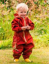 Непромокаемый комбинезон для детей (рубиновый)