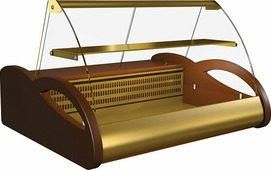 Холодильная витрина ПОЛЮСA87 SM 1.0-1 (ВХС-1.0) browngold