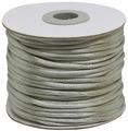 Шнур атласный, для воздушных петель, цвет: стальной, 2 мм x 45,7 м
