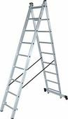 Лестница-стремянка Новая высота NV 122 алюминиевая двухсекционная 2x13 ступеней