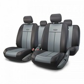 """Авточехлы Autoprofi """"TT"""", цвет: черный, серый, 9 предметов. TT-902P BK/D.GY"""