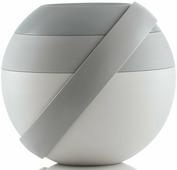 """Ланч-бокс для салатов Guzzini """"Zero"""", цвет: серый, 388 мл + 780 мл, 5 предметов"""