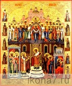 Покров Пресвятой Богородицы (рукописная икона). Серия: ИК, Размер (см): 40х50 (Иконы Богородицы)