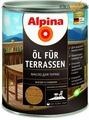 Масло для террас Alpina Oel fuer Terrassen, Прозрачный 750 мл / 0,75 кг
