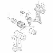 Двигатель переменного тока для ELM3300/1100 Вт Makita (MKT-664563650)