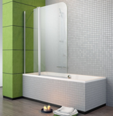 Стеклянная шторка для ванны Radaway Eos II PND 130 L