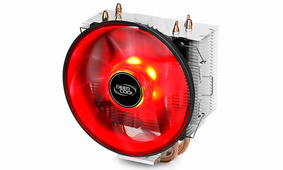 Вентилятор Deepcool Universal GammaXX 300 Red (LGA115X/LGA775/AM4/AM3+/AM3/AM2+/AM2/FM2+/FM2/FM1, 900-1600RPM, 17.8-21dB, 40CFM, 4pin, 130W, Red Led)