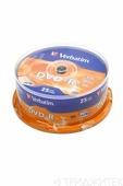 Записываемый компакт-диск Verbatim 43522 DVD-R 4.7Gb 16x CB/25, 1 штука