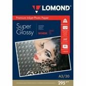 Бумага Lomond суперглянцевая 1х295г,20л,А3, Warm (1108102)
