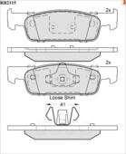 Дисковые Тормозные Колодки R Brake R BRAKE арт. RB2115