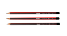 Мартек Набор карандашей чернографитных трёхгранных с ластиком НВ Milan 3шт
