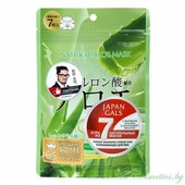 JAPAN GALS Natural Маска для лица, курс 7шт, с экстрактом Алоэ | 7шт | Natural Mask, Aloe, 7P