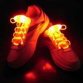 Светящиеся шнурки Baziator с LED подсветкой оранжевые