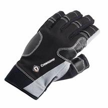 Перчатки короткие чёрно-серые CrewSaver Short Finger Glove 6950 M 175 x 105 мм