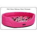 Лежак овальный с подушкой AMI Play Crazy розовый, XL, 87x76x20см
