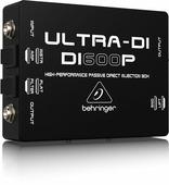 Behringer DI600P Пассивный DI-box с согласованием импеданса для прямого подключения инструментов/ выходов усилителей к микшеру и преобразованием сигнала от несимметричного звукового источника в симметричный микрофонного уровня (ослабление -20 дБ, плюс 30