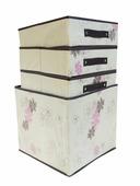 Органайзер-ящик для хранения вещей с выдвижными отделениями бежевый RYP101-C Удачная покупка