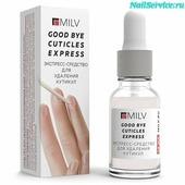 Milv Профессиональное средство для удаления кутикулы, 15 мл GOOD BYE CUTICLES EXPRESS