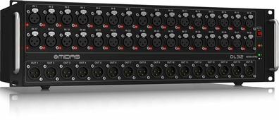 MIDAS DL32 стейдж-бокс, 32 мик/лин входов, 16 лин выходов XLR, 2 x AES50, ULTRANET, 2 x ADAT, 3U