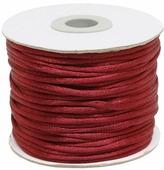 Шнур атласный, для воздушных петель, цвет: бордо, 2 мм x 45,7 м