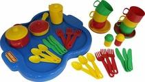 """Набор детской посуды """"Янина"""" с подносом на 6 персон Арт. 4077"""