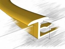 Z профиль для плитки и ламината золото 270 см