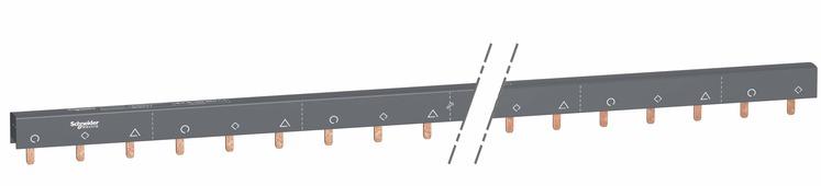 Шинка гребенчатая доп.+3п (auxl1…auxl2…auxl3) 57 мод.18мм 100а разрезаемая Schneider Electric, A9XAH657