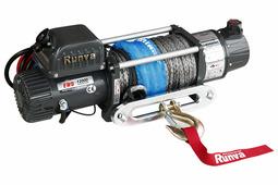Лебёдка электрическая двухскоростная 12V Runva 12000 lbs 5700 кг (синтетический трос)