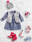 Электронная выкройка Burda - Платье расклешенного силуэта для девочки 147