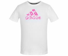 Футболка детская Graphic Tee Kids бело-розовая (рост 164 см)