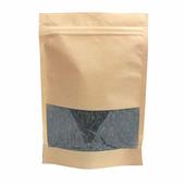 Крафт пакет дой-пак зип-лок 135*225мм окно 70мм (Гладкая бумага). В упаковке 100шт.