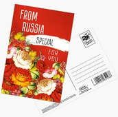 "Почтовая карточка Дарите Счастье ""From Russia for you"", 10 х 15 см"