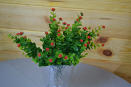 Цветок искусственный Ветка декоративная с ягодой 33см микс
