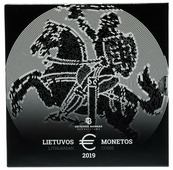 Литва годовой набор евро 2019 (8 монет в официальном буклете) P533301