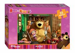 Step puzzle Мозаика puzzle 35 MAXI Маша и Медведь (Анимаккорд)