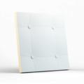 Стеновая гипсовая 3D панель – Кожа прямой квадрат, 500х500mm