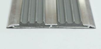 Порог стыкоперекрывающий (Стык) + вставка (40мм) алюминиевый
