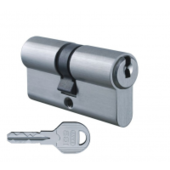 Цилиндровый механизм EVVA ICS ключ-ключ никель 36x36