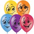 """Воздушные шары, 50шт, М12/30см, """"Улыбки"""", пастель+декор Поиск 4 690 296 041 175"""