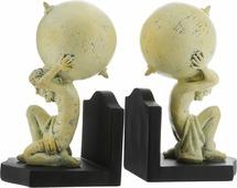 "Подставка-ограничитель для книг Феникс-Презент ""Титаны"", 9,5 х 7,5 х 15 см, 2 шт"