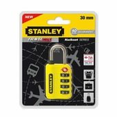 "Замок для багажа ""Stanley"" кодовый, цвет: желтый. S742-059"