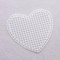 Канва пластиковая сердце, 7 x 8 см